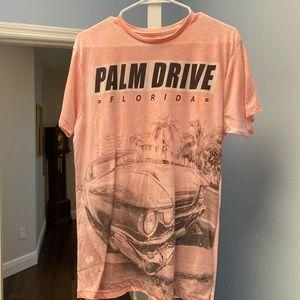 palm Silk fit slim t shirt